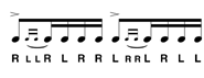 Drag paradiddle n°1